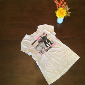 Justice girls pug tee